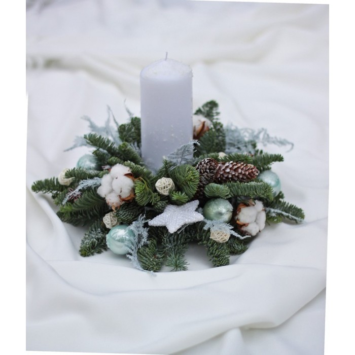 Свеча новогодняя Tiffany