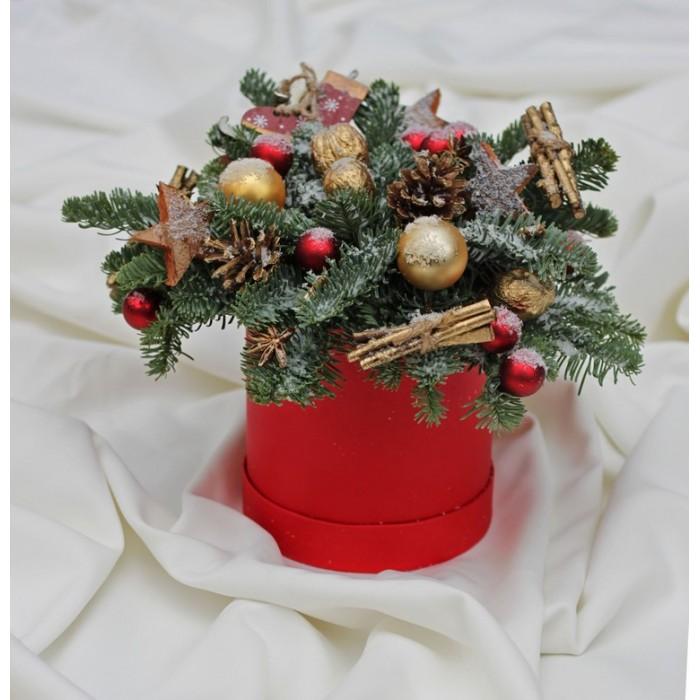 Коробочка новогодняя красная