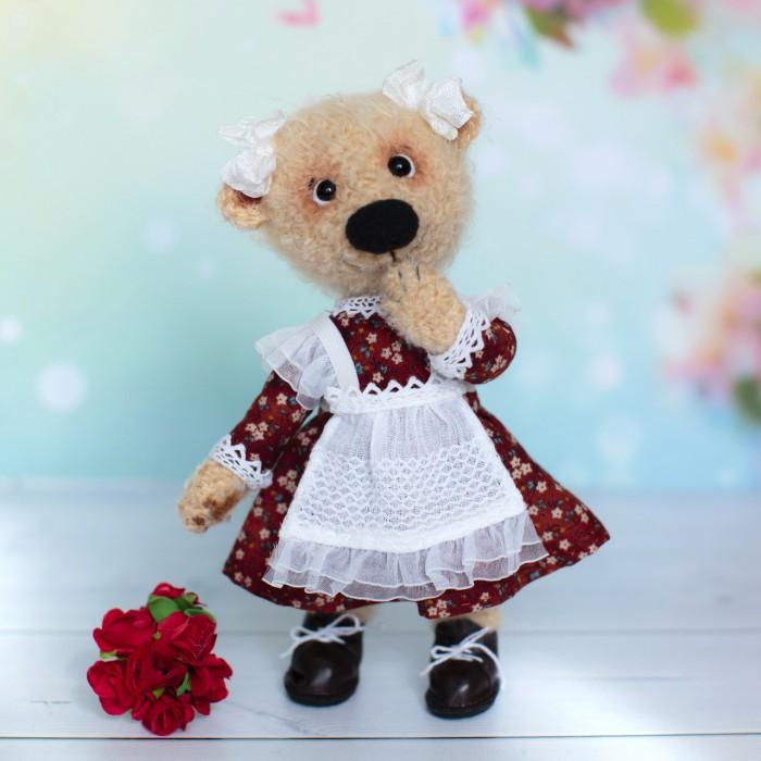 Авторская игрушка медвежонок в школу
