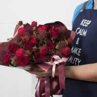 Авторский букет с пионовидными розами (автор)