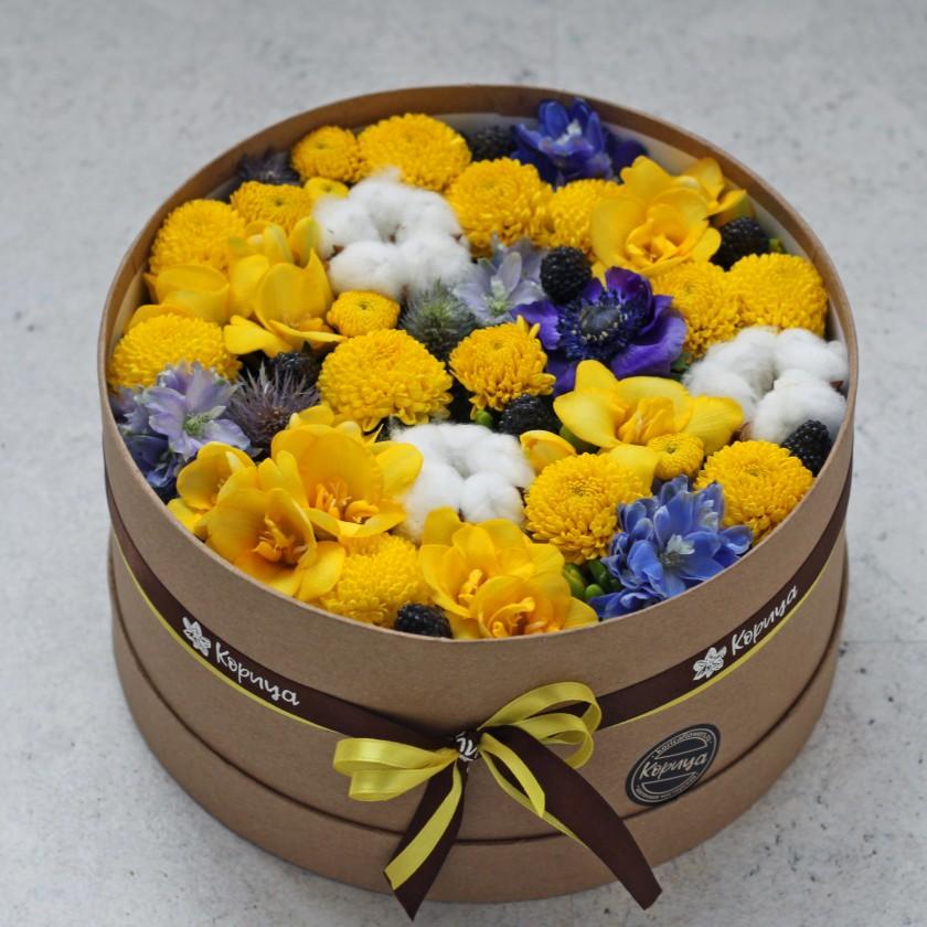 Желто-синяя коробочка (автор36)