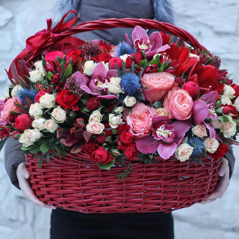 Большая корзина цветов (автор65)