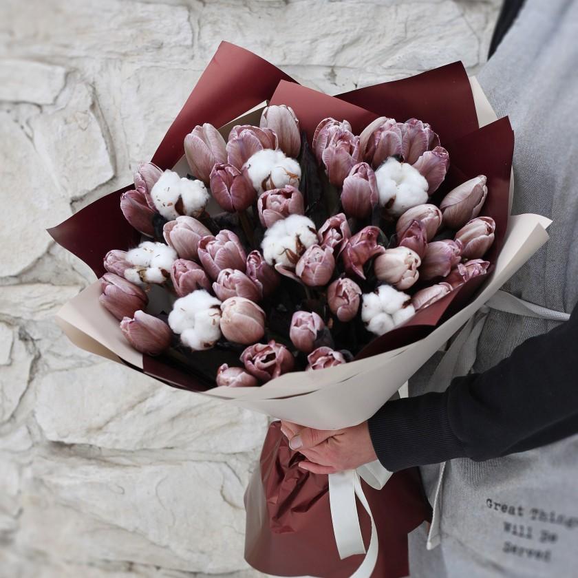 Букет шоколадных тюльпаны Brawnie