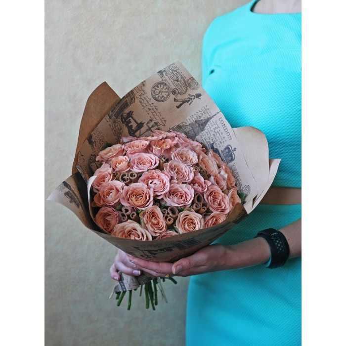 Букет роз Капучино