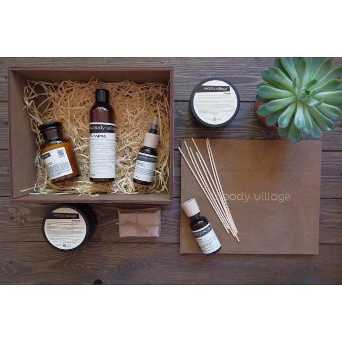 Подарочный набор в стильном ящике (до 6 продуктов)