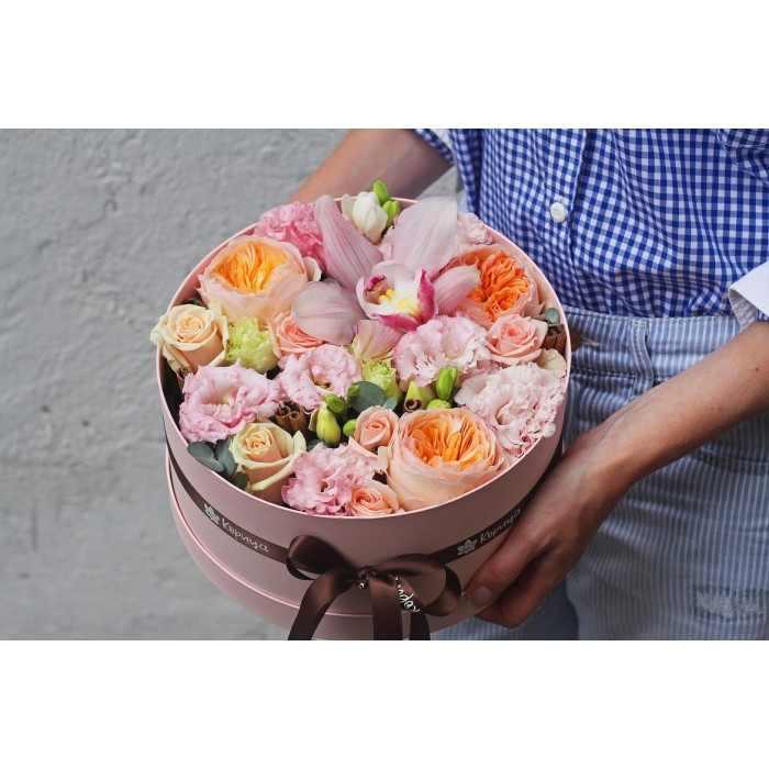 Коробочка в розово-персиковой гамме (автор12)