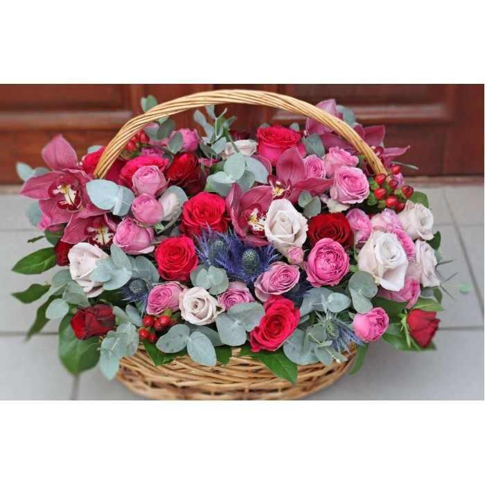 Корзина с розами (автор24)
