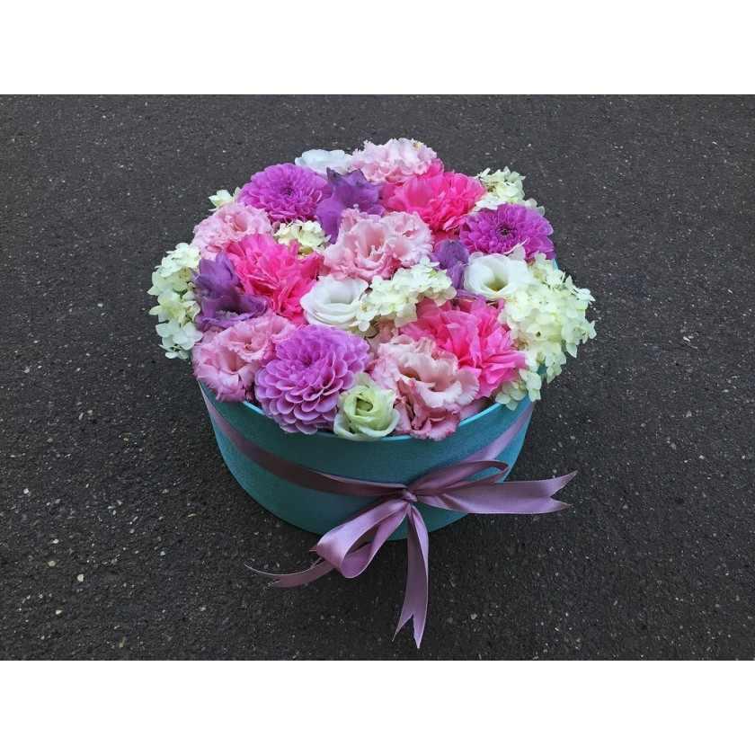 Цветы в мятной коробочке (автор 40)