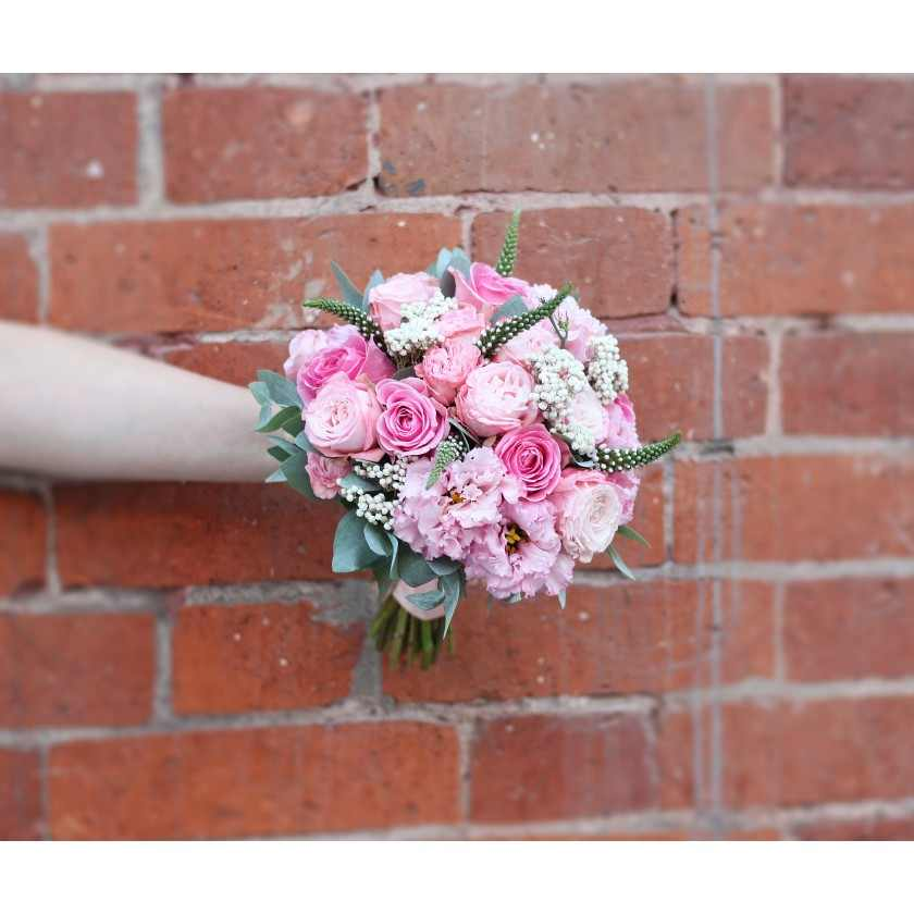 Бело-розовый букет невесты