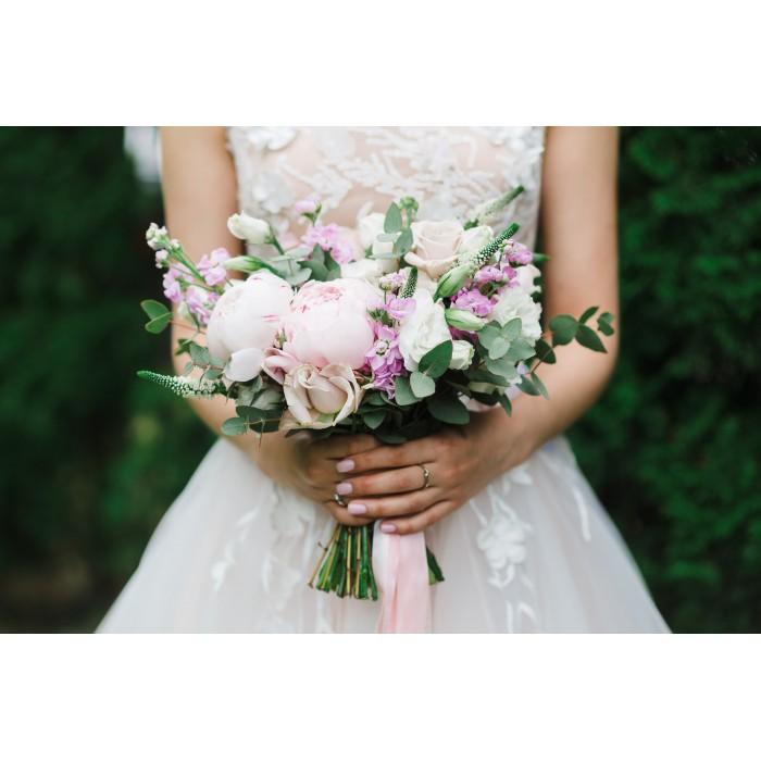 Букет невесты пудрово-розовый