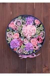 Коробка цветов с пионом (автор70)
